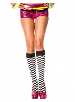 ML5606 - Knee Hi & Over The Knee (Black/White)