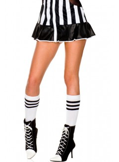 ML5726 - Knee Hi & Over The Knee (White/Black)