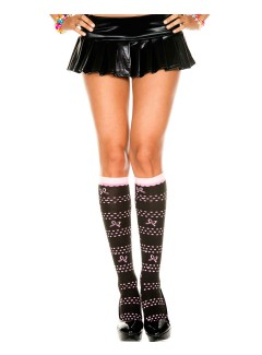 ML5702 - Knee Hi & Over The Knee (Black/Pink)