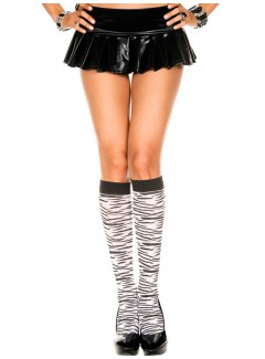 ML5646 - Knee Hi & Over The Knee (Black/White)
