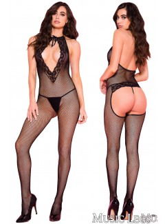 ML1091 - Tie-Front Bodystocking