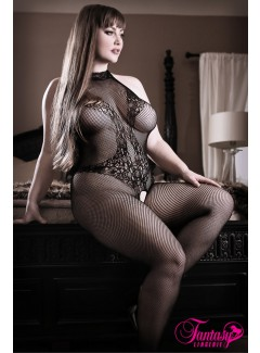 FASF903X - Embroidered Bodystocking