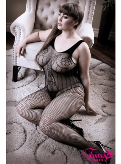 FASF905X - Embroidered Bodystocking