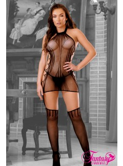 FASF958 - Embroidered Bodystocking