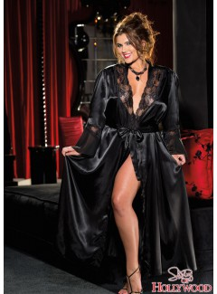 SHX20559 - LONG ROBE (BLACK)