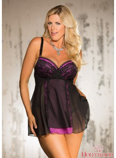 SHX25551 - BABY DOLL (BLACK/HOT PINK)