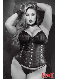 SHX31065 - Faux Leather Corset