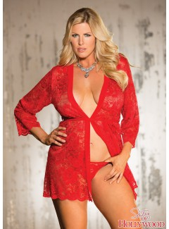 SHX31106 - Lace Robe (RED)
