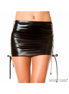 ML154 - ADJUSTABLE MINI SKIRT (BLACK)