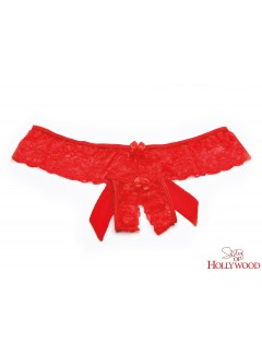 SH31035 - OPEN FRONT PANTY (RED)