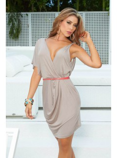AM4799 - Dress with Belt (MOCHA)