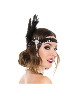 ML70587 - BLACK FLAPPER HEADPIECE