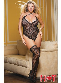 SHX90418 - TEDDY AND STOCKING SET (BLACK)